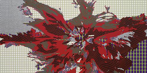 Inscape Scape 2014 100x200cm acrylic on canvas