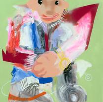 Hypebeast ll 121.0 x 91.4 cm Mixed media on canvas 2020