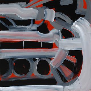 201427 2014 90x90cm  acrylic and oil canvas