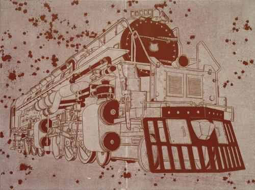 그때 그의 확고한 견인의지  2013 193.9x259.1cm burned hanji paper and acrylic on canvas