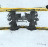 allegory-SL187 2012 45x20cm handcolouring over an aquatint
