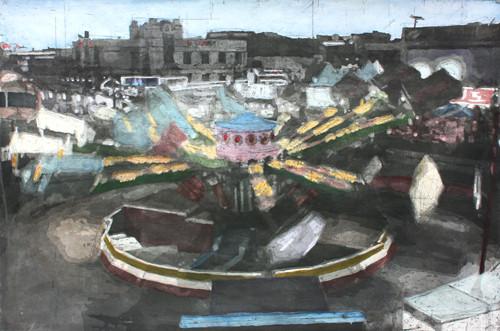 시간의 질서 2012 90x60cm handcolouring over an aquatint