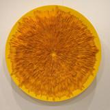 공간의 재구성 No.14 (노란빛) 2014 200x200x30cm 우레탄도료, 스테인리스 망, 아크릴물감, 캔버스 천