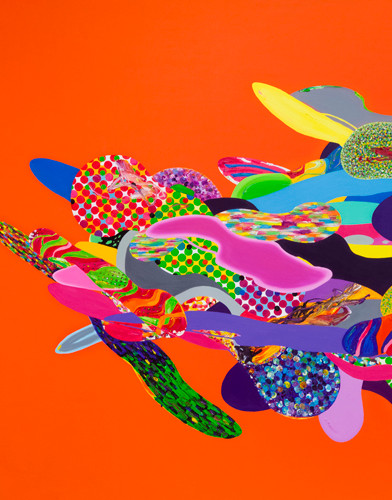 Color Phantasmagoria (부분2) 2012 364x182cm oil on canvas