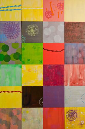 Abacada 2008-2011 137x 91cm (24 panels) oil on panels