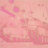 Pink pound 2013 193.9x259.1cm burned hanji paper and acrylic on canvas