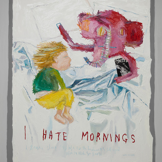 I Hate Morning 2017 162.2x130.3cm oil on canvas