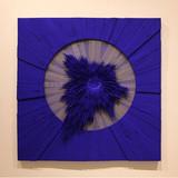 공간의 재구성 No.14 (파란 빛) 2014 120x120cm 피그먼트, 알루미늄 망, 아크릴물감, 캔버스 천