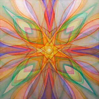 태양을 보다 2012 230x230cm oil on canvas, anti-uv varnish