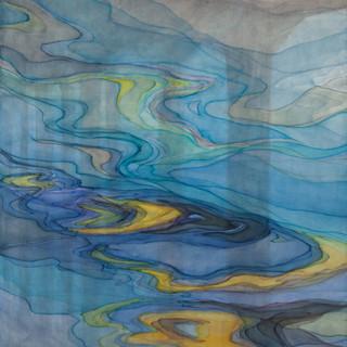 흘러가라. 흘러가라. 흘러가리라 -gortz 2012 116.8x91cm oil on canvas, anti-uv varnish