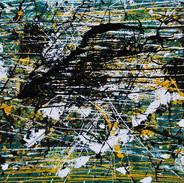 Untitled 2015 97x146cm acrylic and liquid ceramic on canvas