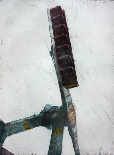공존의 추 2012 45x60cm handcolouring over an aquatint