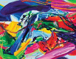 Color Phantasmagoria 2012 150x74cm oil on canvas