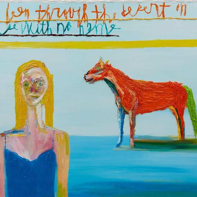 Horse with no name oil on canvas each 89x116cm 2019