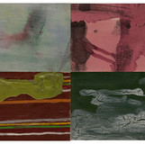 Abacada 02 2009-2011 20x30cm (4panels) mixed medium on canvas