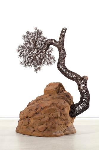 풍경 2012-2 2012 65x84x30cm 시멘트, 철분, 동파이프 산소용접 cement, iron, copper welding