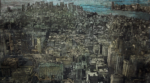Overflow (New york, United states) 2008 50x90cm Hand colouring over an aquatint
