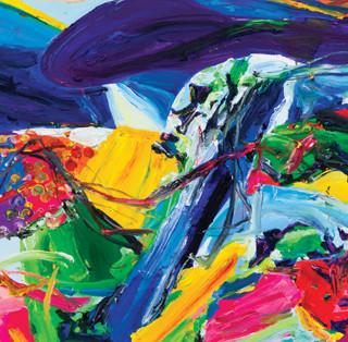 Color Phantasmagoria (부분1) 2012 150x74cm oil on canvas