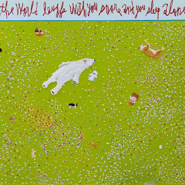 Sleep oil on canvas each 130.3x162.2cm 2019