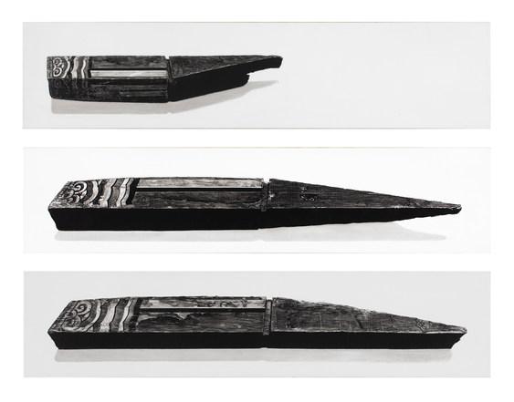 평부연 3 pieces(Flying rafter, 숭례문),새김, Oil