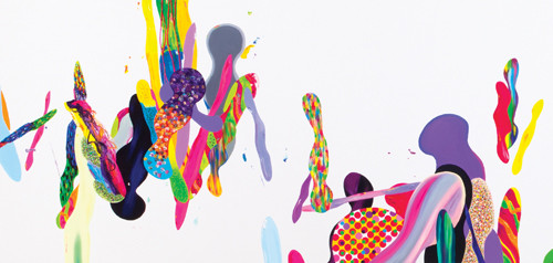 Color Phantasmagoria (부분1) 2012 600x130cm oil on canvas