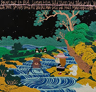 Night Fishing,162.2x130.3 oil on canvas