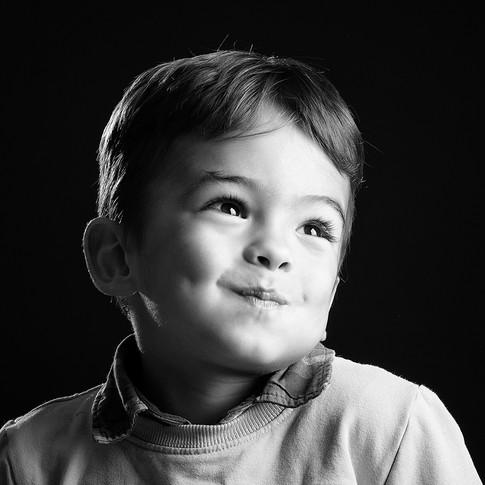 Séance de portrait d'enfant