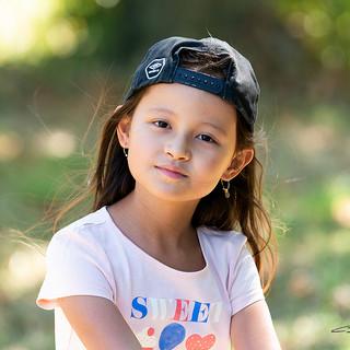 Portrat d'enfant en extérieur