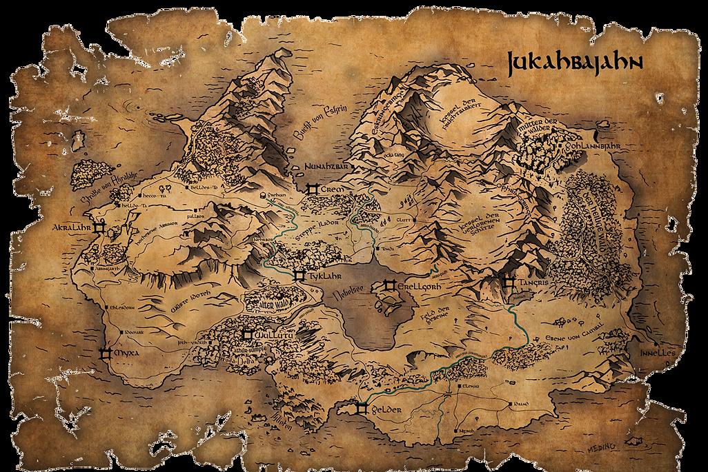 Fantasy Karte Magie Erellgorh