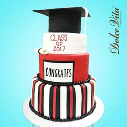 3-Tier Graduation Cake