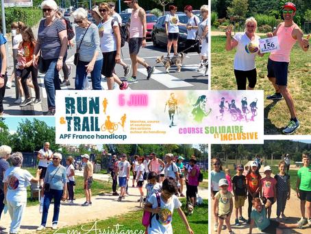 Evénement solidaire RUN & TRAIL en soutien à APF Handicap