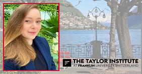 Taylor Institute second Long-Life Learning Scholar Rafaella Bragato