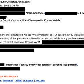 CVE-2020-8496: Stored XSS in Kronos Web Time and Attendance (webTA) 4.1.x