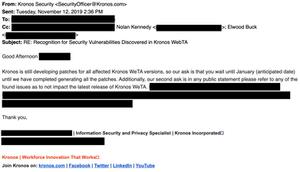 Kronos Email Response