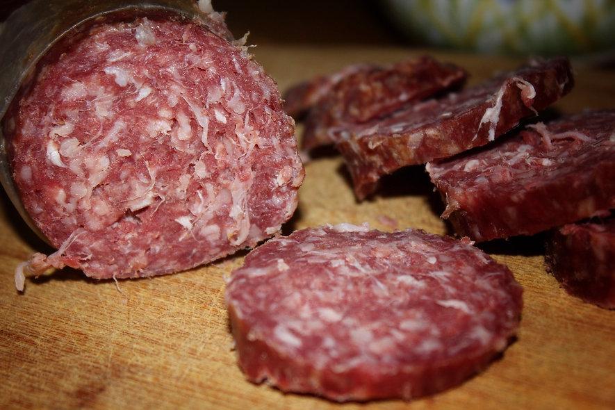 Knoblauchsalami vom Bergsdorfer Wiesenrind