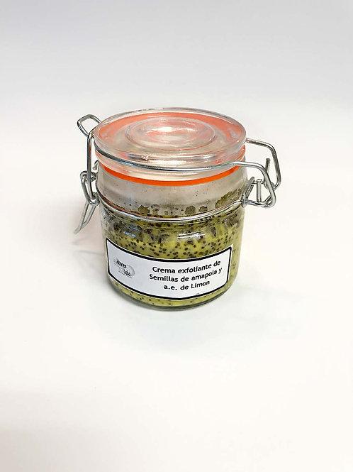 Crema exfoliante de Semillas de Amapola y a.e. de Limón