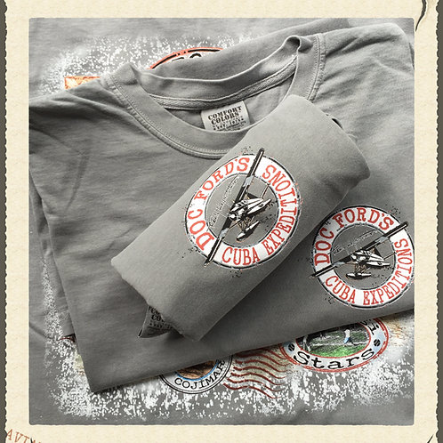 Doc Ford's Cuba Expeditions- T-Shirt - Grey