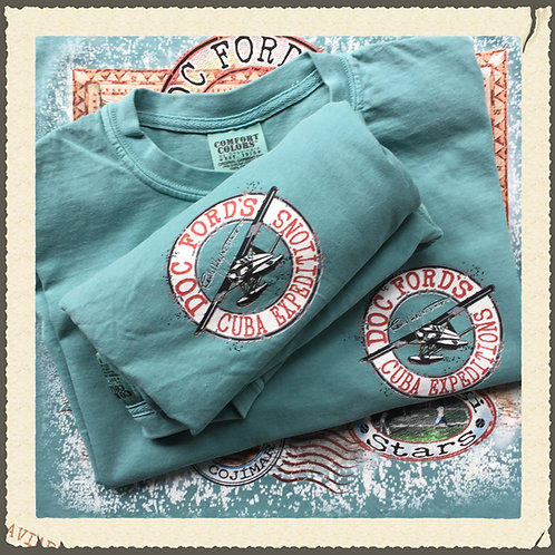 Doc Ford's Cuba Expeditions- T-Shirt - Sea Foam
