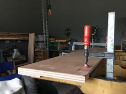 Gluing in new pin block