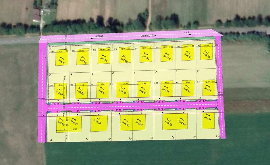 Wohnbau Simeria - Luftbild mit Plan