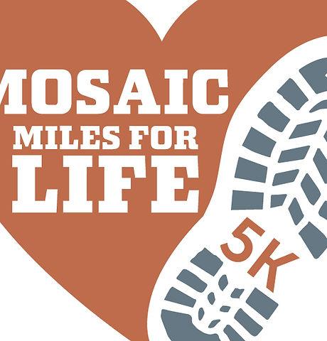 Mosaic Miles for Life heartbeat LT Squar