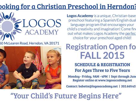 Logos Academy Ad Fall Registration Now O