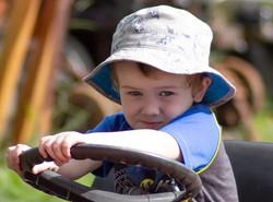 Nephew On Tractor