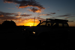 Car in the Sunset