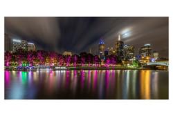 Melbourne at Night - Rex Boggs