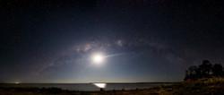 Milky Way and the Moon over Lake Maraboon