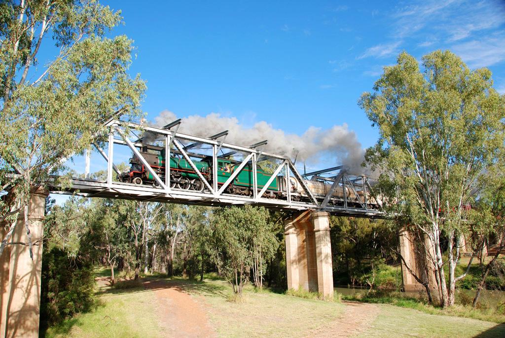 Steam Train over Nogoa River