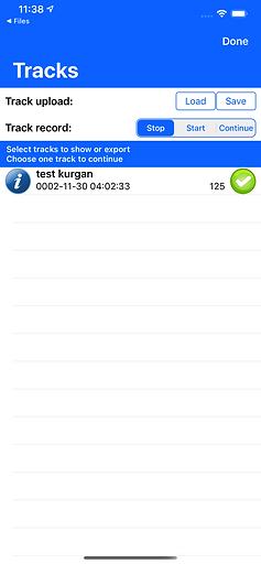iOS Traveler Сompass and GPS tracker .gpx