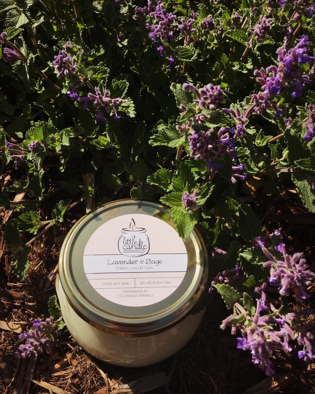 Lavender & Sage Soy Candle