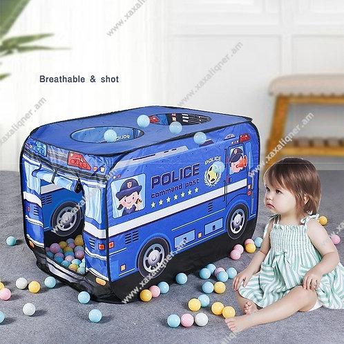Մանկական տնակ ոստիկանական մեքենա +50 հատ գնդակ